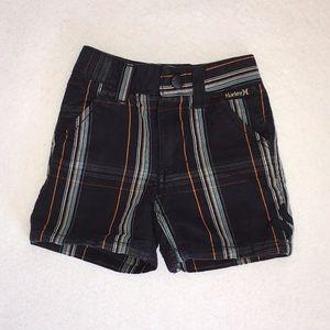 💰5/$15💰 Boys Hurley Navy Plaid Shorts 6 Months